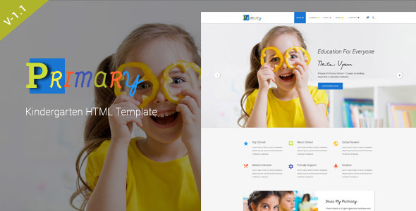 Primary – Kids & Kindergarten School HTML Template - Children Retail