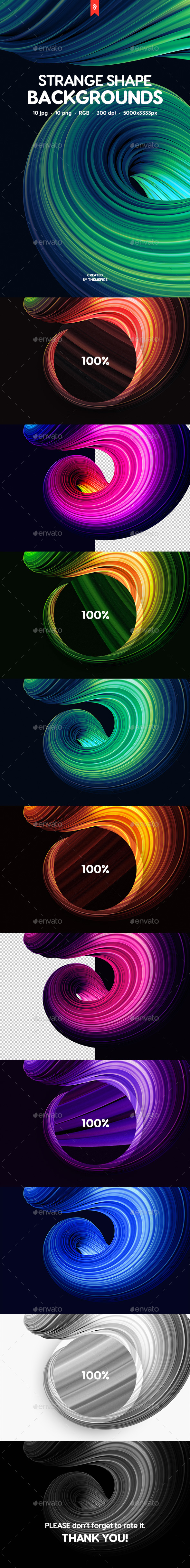20 Abstract Strange Shape Backgrounds - Abstract Backgrounds
