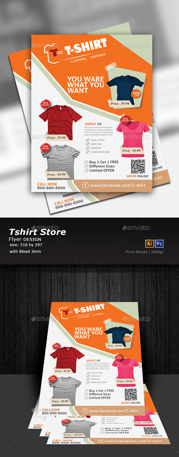 T-shirt Flyer - Flyers Print Templates
