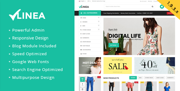 Linea - Clothing Store Magento Theme