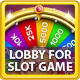 Lobby with Bonus Wheel and GUI for Slots Games - GraphicRiver Item for Sale