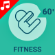 Fitness Sport Gym healthy Fit Animation - Line Icons and Elements - VideoHive Item for Sale