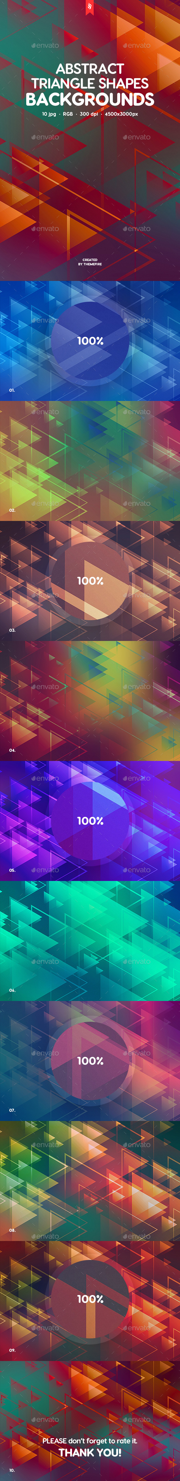 Abstract Triangle Shapes Backgrounds - Backgrounds Graphics