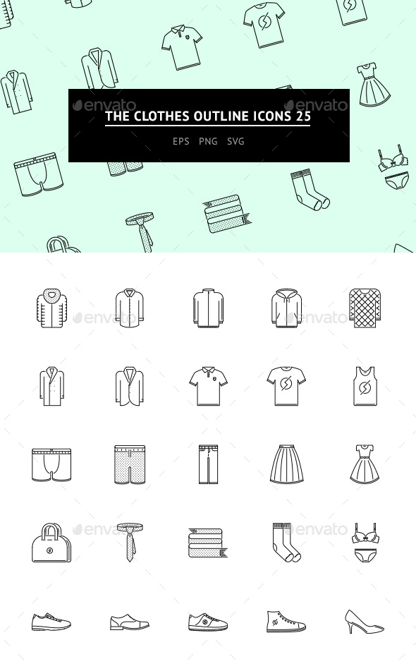 The Clothes Outline Icons 25 - Web Icons