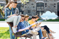 group of students with tablet pc at school yard - PhotoDune Item for Sale