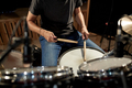 man playing drums at concert or music studio - PhotoDune Item for Sale