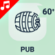 Bar Pub Drink Alcohol Animation - Line Icons and Elements