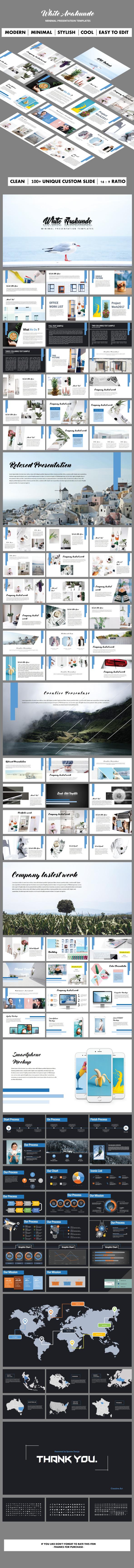 White Arakundo Keynote Templates - Keynote Templates Presentation Templates