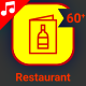 Restaurant Food Fruit Meat Animation - Line Icons and Elements