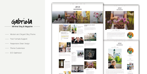 Gabriela - Crafted Blog WordPress Theme