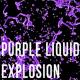 Purple Liquid Drop Explosion