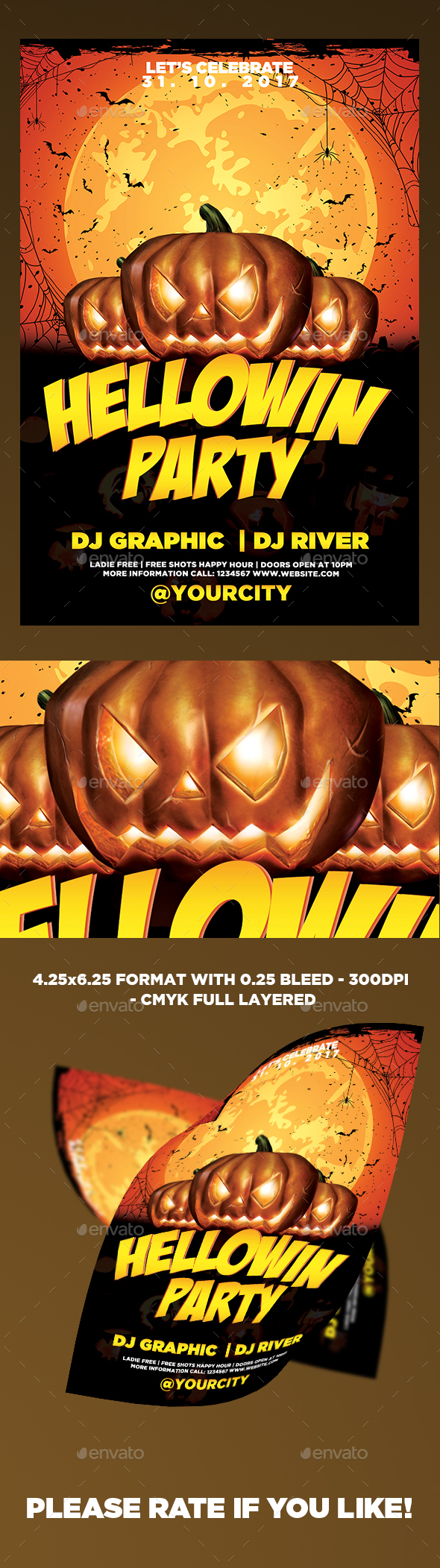 Hellowin Party Template - Events Flyers