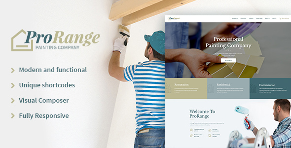 ThemeForest ProRange Painting Company WP Theme 20691298