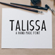 Talissa A Handmade Font - GraphicRiver Item for Sale