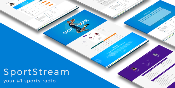 ThemeForest SportStream HTML5 template for streaming sport content 20586168