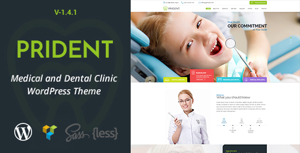 Prident - Medical and Dental Clinic WordPress Theme - Health & Beauty Retail