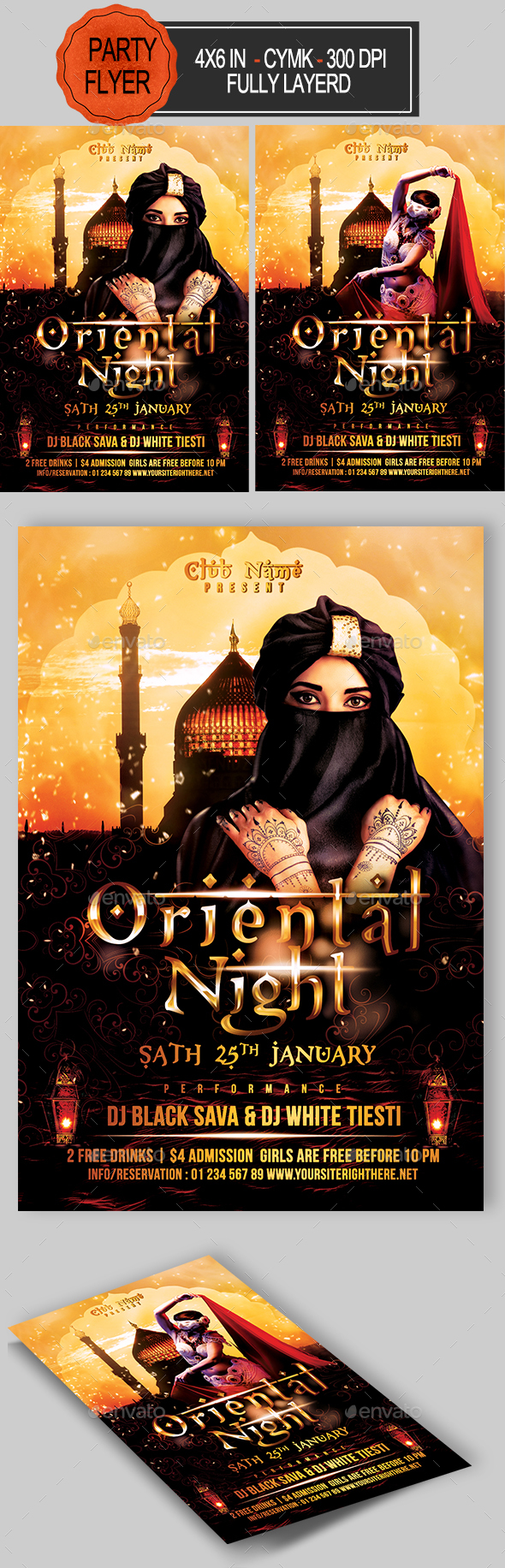 Oriental Night Flyer - Clubs & Parties Events