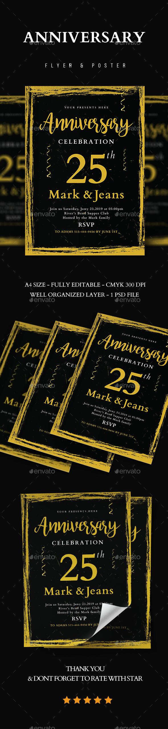 Anniversary Invitation Vol.3 - Flyers Print Templates
