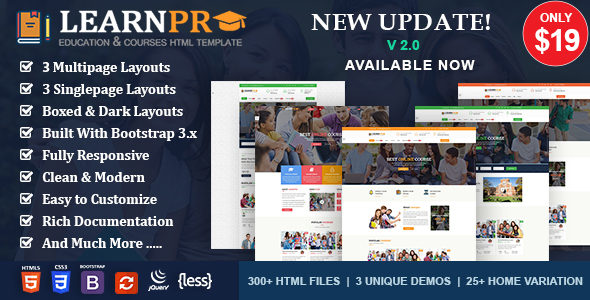 Education Course HTML5 Template - LearnPro