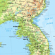 Korean Peninsula Physical Map