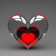 Glass Heart with Red - VideoHive Item for Sale