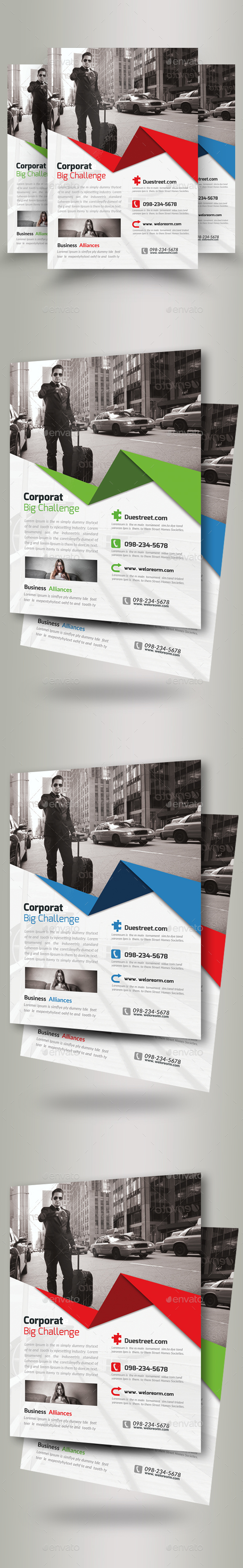 Business Tourist Agency Flyers - Corporate Flyers