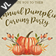 Pumpkin Carving Party Poster / Flyer V01 - GraphicRiver Item for Sale