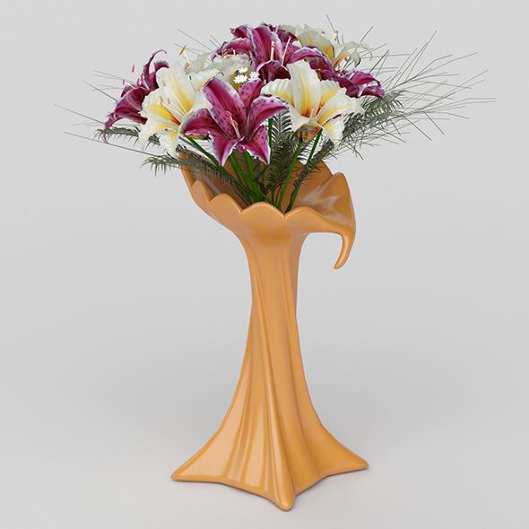 3DOcean Vray Ready Flower Pot 20692298