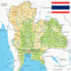 Thailand Physical Map - GraphicRiver Item for Sale