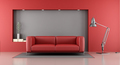 Red and gray minimalist lounge - PhotoDune Item for Sale