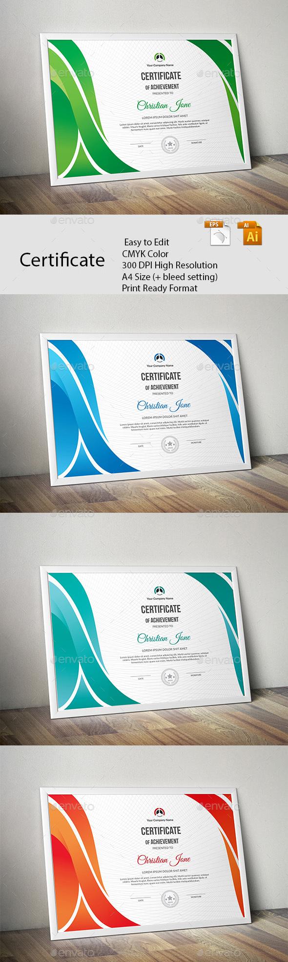 GraphicRiver Certificate 20692369