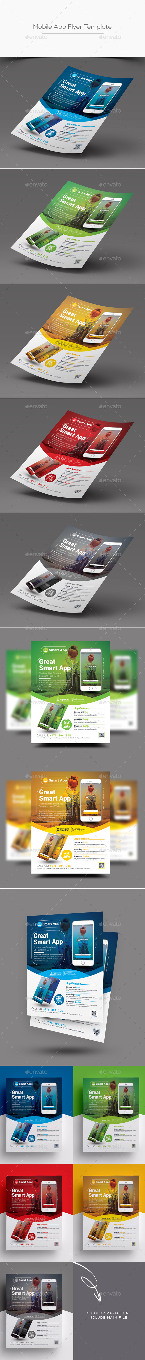 GraphicRiver Mobile App Flyer Template 20692404