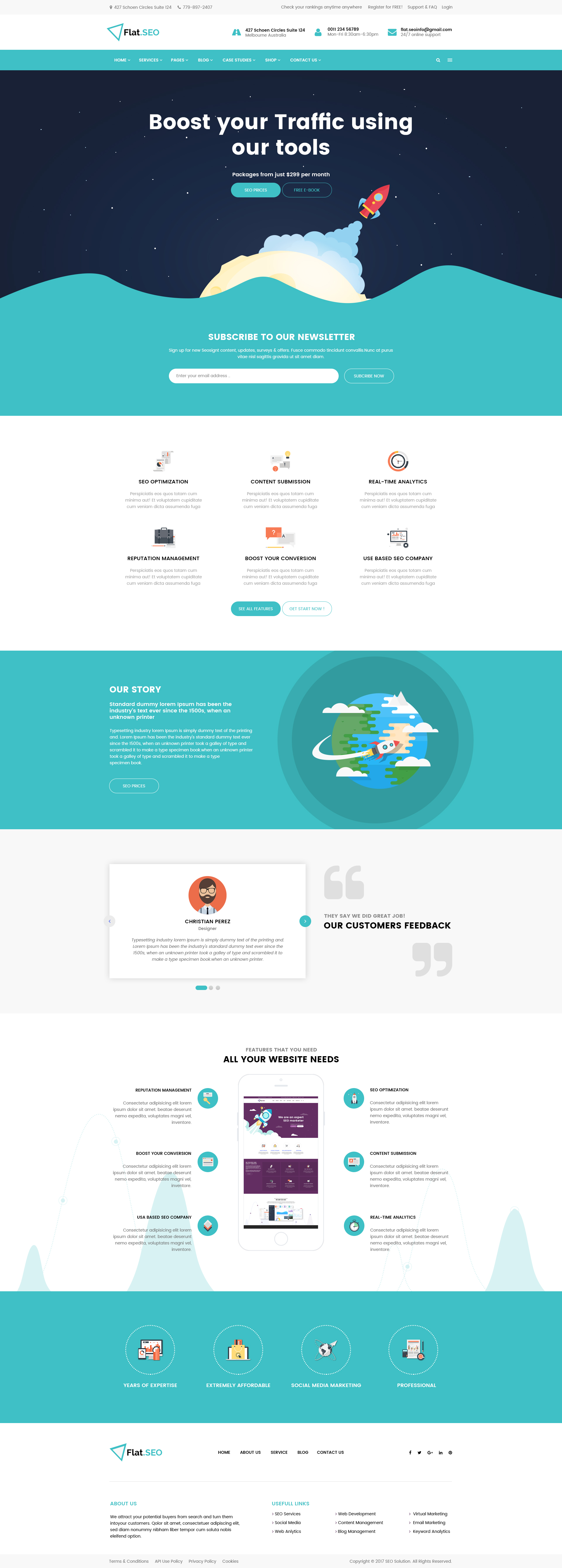 Flat SEO - PSD Template by FlatMaster | ThemeForest
