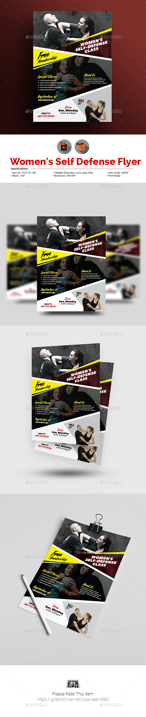 GraphicRiver Self Defense Flyer 20692512