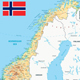 Norway Physical Map - GraphicRiver Item for Sale