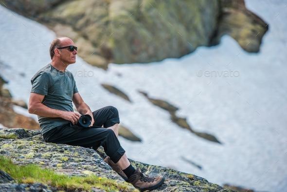 Hiking Nature Photographer - Stock Photo - Images