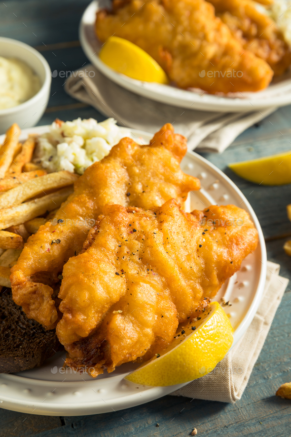 Homemade beer battered fish fry stock photo by bhofack2 for Homemade fish fry