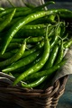 Organic Green Finger Peppers