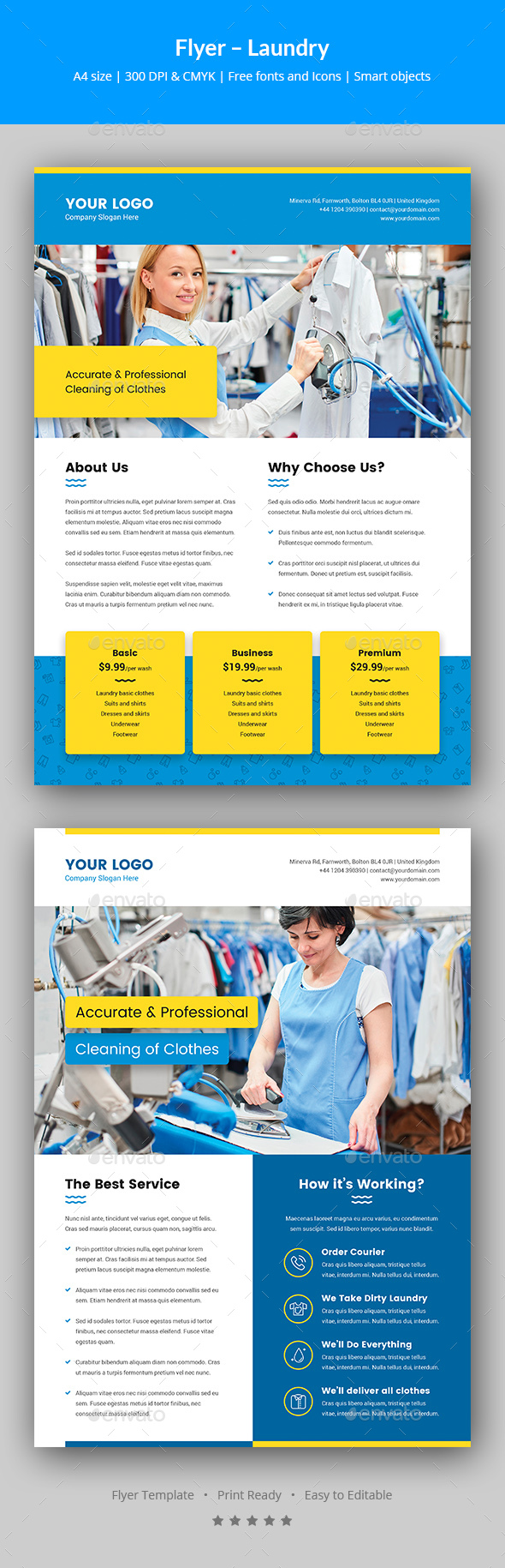 Flyer – Laundry Service - Corporate Flyers