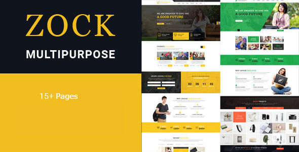 Download ZOCK - Multipurpose HTML Template            nulled nulled version