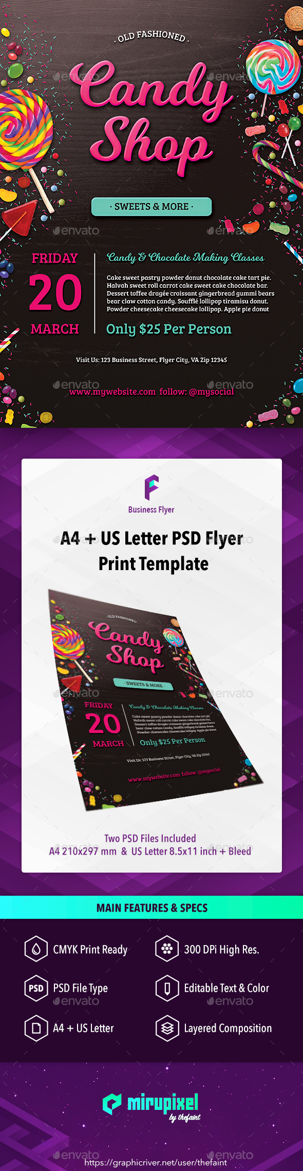 GraphicRiver Business Flyer Candy Shop 20692956