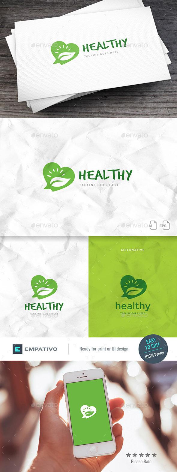 Healthy Fans Logo Template - Symbols Logo Templates