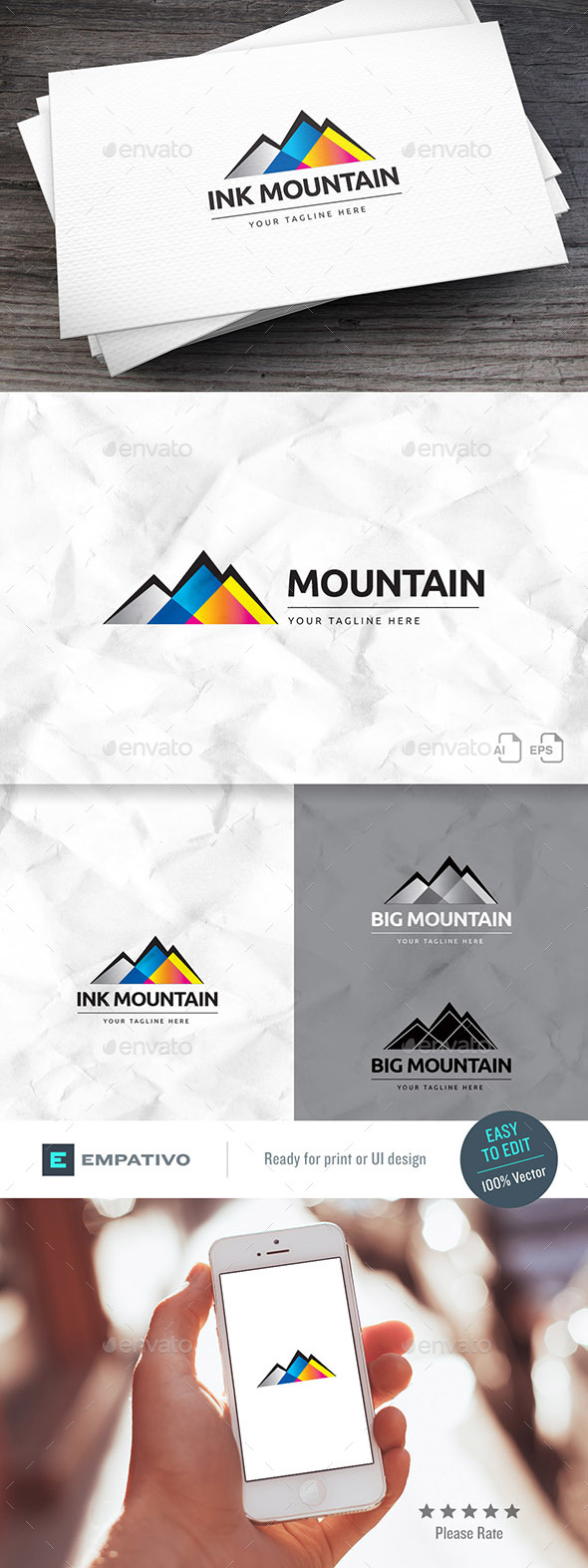 Ink Mountain Logo Template