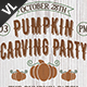 Pumpkin Carving Party Poster / Flyer V02