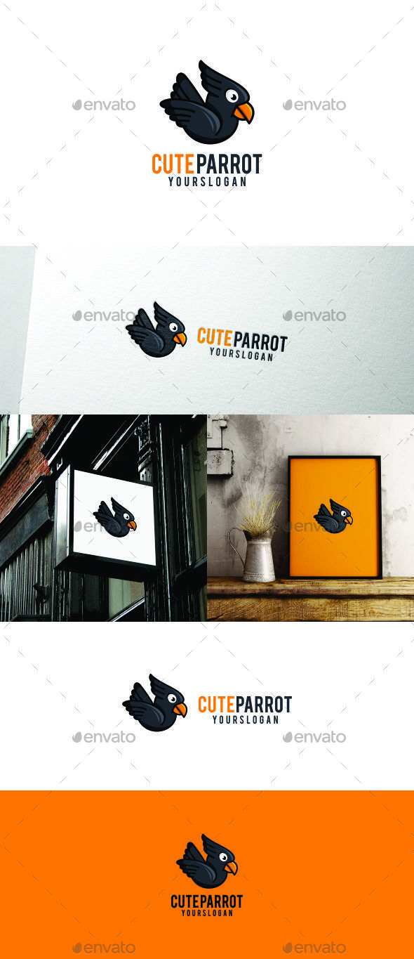 GraphicRiver Cute Parrot 20693064
