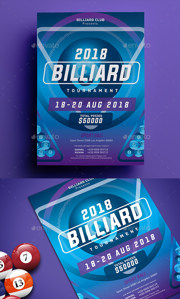 Billiard Tournament Flyer - Sports Events