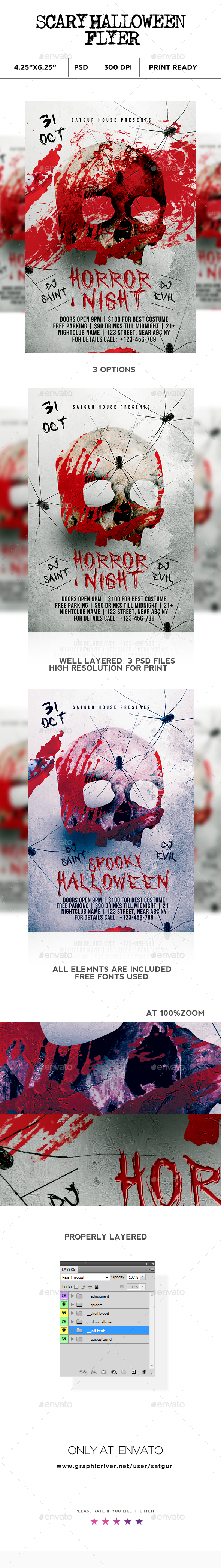 Scary Halloween Flyer V2 - Clubs & Parties Events