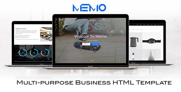 ThemeForest memo multi-purpose business html template 20581530
