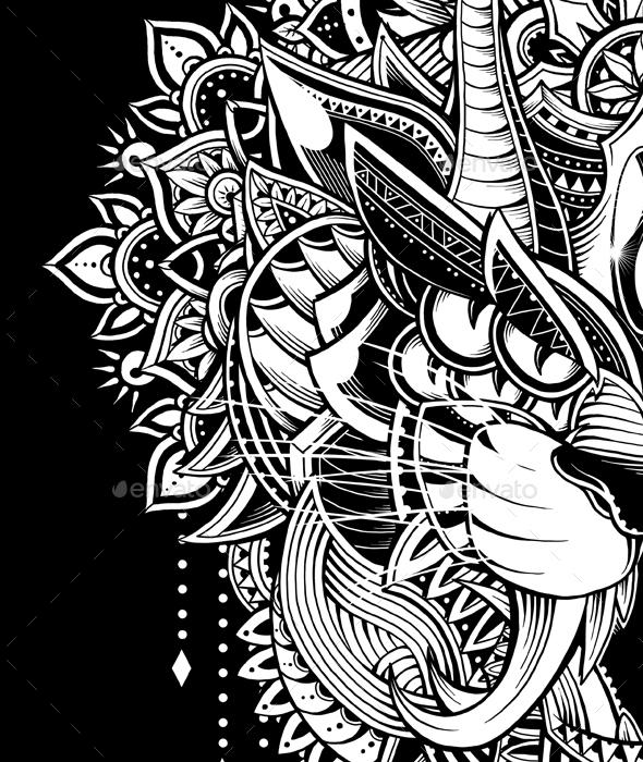Tiger Mandala By Godzillarge Graphicriver