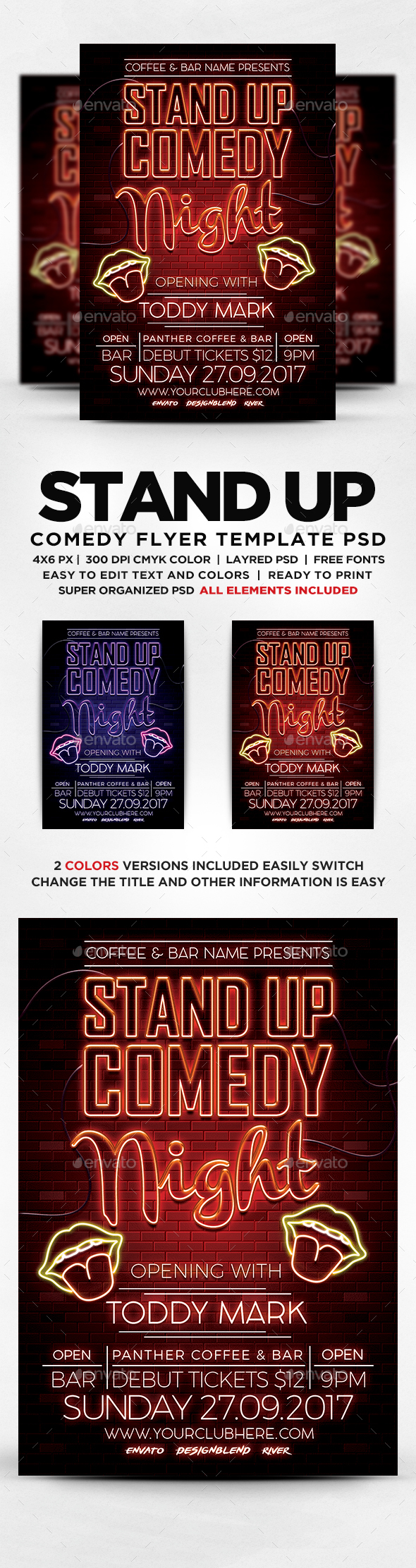 GraphicRiver Stand Up Comedy Flyer 20693160